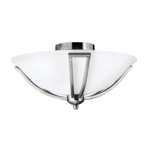 Hinkley Bolla Brushed Nickel Flush Ceiling Light HK/BOLLA/F