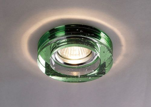 Diyas IL30831GR Crystal Bubble Recessed Downlight Round Rim Only Green