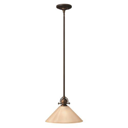 Hinkley HK/MAYFLOWER/P/B Mini Antique Bronze 1 Light Ceiling Pendant