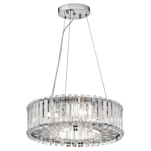 Kichler Crystal Skye KL/CRSTSKYE/P/A 6 Light LED Pendant Chrome IP44 Ceiling Fitting
