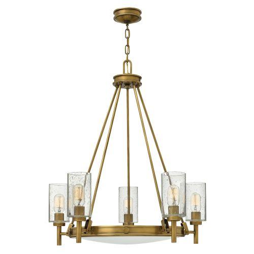 Hinkley Collier 5 Light Heritage Brass Chandelier HK/COLLIER5