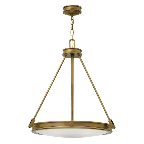 Hinkley Collier 4 Light Heritage Brass Pendant HK/COLLIER/P