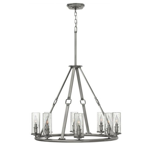 Hinkley Dakota 8 Light Polished Antique Nickel Chandelier HK/DAKOTA8