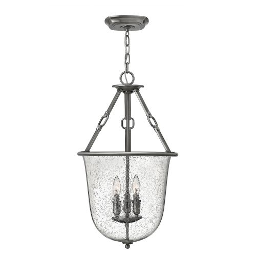 Hinkley Dakota 3 Light Polished Antique Nickel Pendant HK/DAKOTA/P