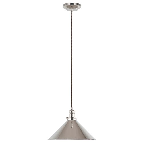Elstead PV/SP PN Provence 1Lt Polished Nickel Pendant Light