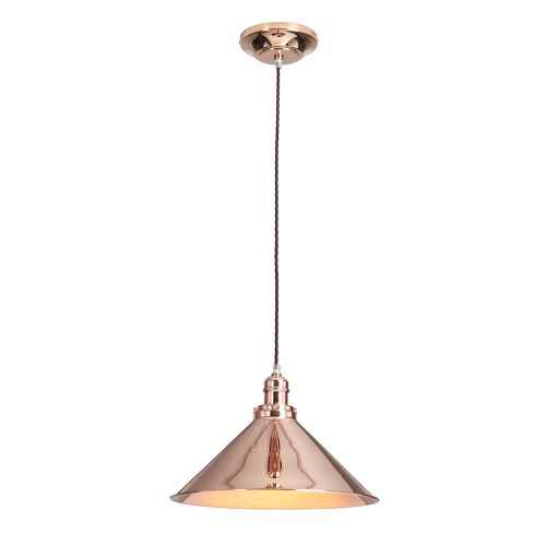 Elstead PV/SP CPR Provence 1Lt Polished Copper Pendant
