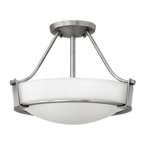 Hinkley HK/HATHAWAY/SFSN Hathaway 3Lt Anti Nickel Semi-Flush Ceiling Light