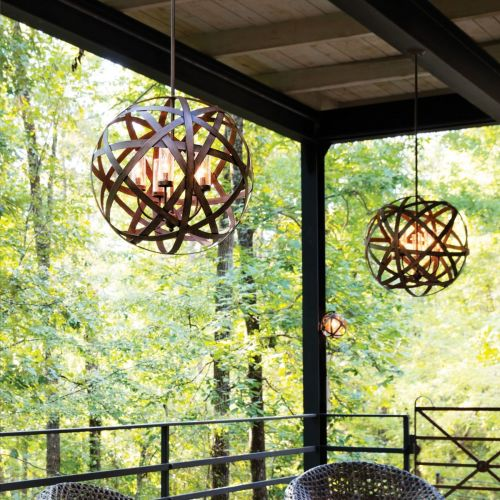 Hinkley HK/CARSON/5P Carson 5Lt Vintage Iron Outdoor Pendant Light