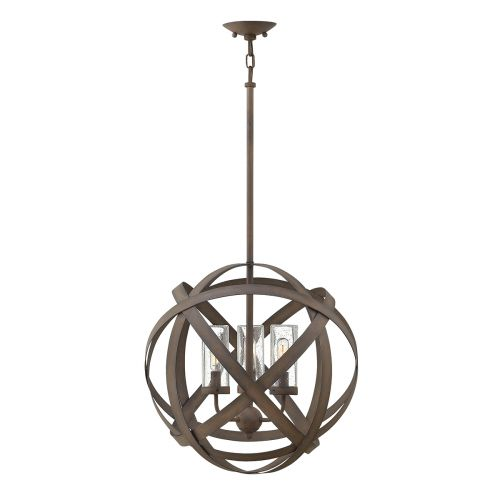 Hinkley HK/CARSON/3P Carson 3Lt Vintage Iron Outdoor Pendant Light