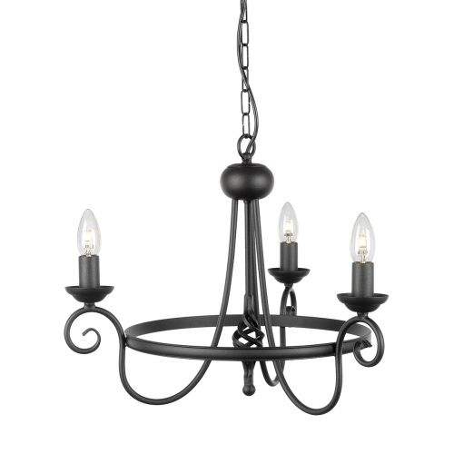 Elstead HR3A BLACK Harlech 3Lt Ceiling Light