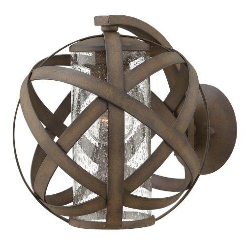 Hinkley HK/CARSON1 Carson 1Lt Vintage Iron Outdoor Wall Lantern
