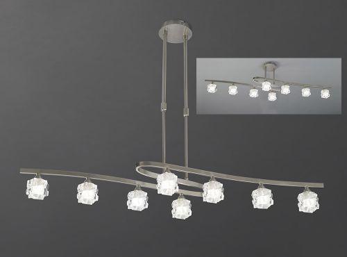 Mantra Ice 8 Light Satin Nickel Ceiling Fitting M1850