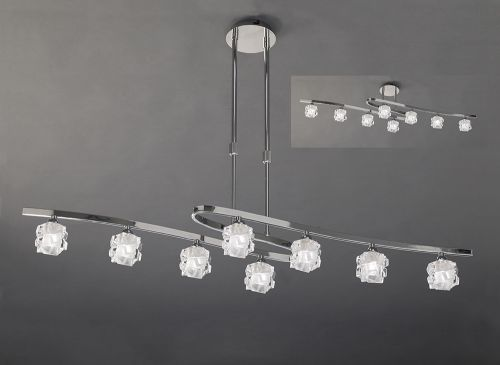 Mantra Ice 8 Light Polished Chrome Ceiling Fitting M1840