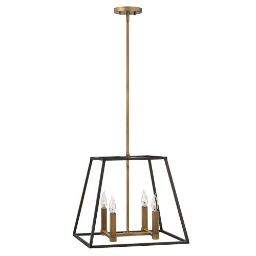 Hinkley HK/FULTON/4P Fulton 4Lt Bronze Pendant Light