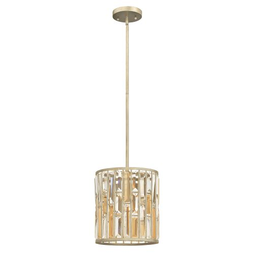 Hinkley HK/GEMMA/P/A SL Gemma 1Lt Silver Leaf Mini Pendant Light