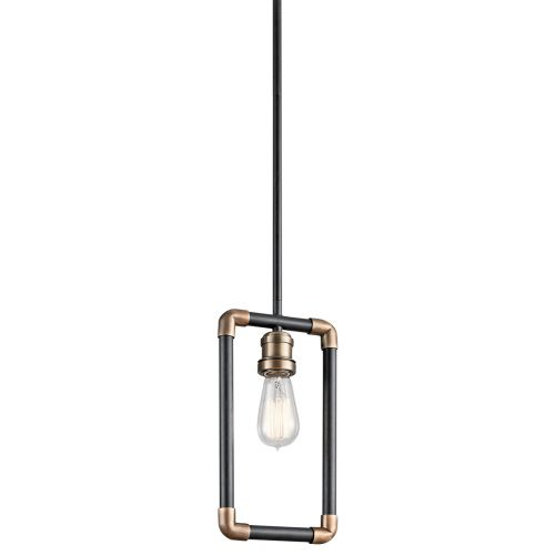 Kichler KL/IMAHN/MP Imahn 1Lt Black and Natural Brass Mini Pendant Light