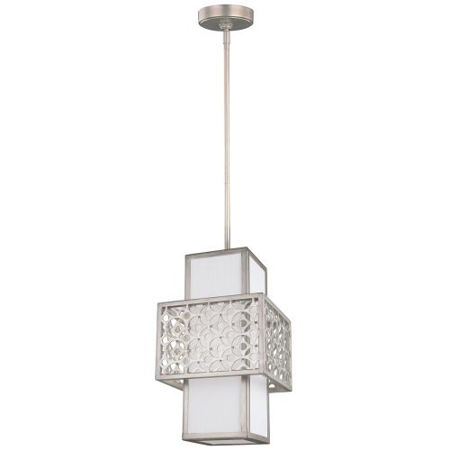 Feiss FE/KENNEY/MP Kenney 1Lt Sunrise Silver Mini Pendant Light