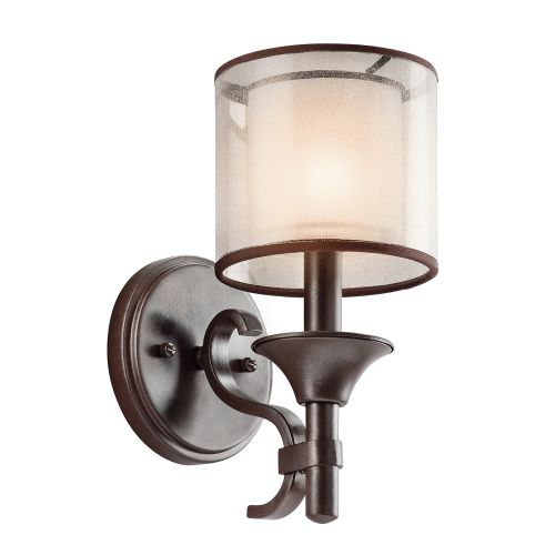 Kichler KL/LACEY1 MB Lacey 1Lt Mission Bronze Wall Light