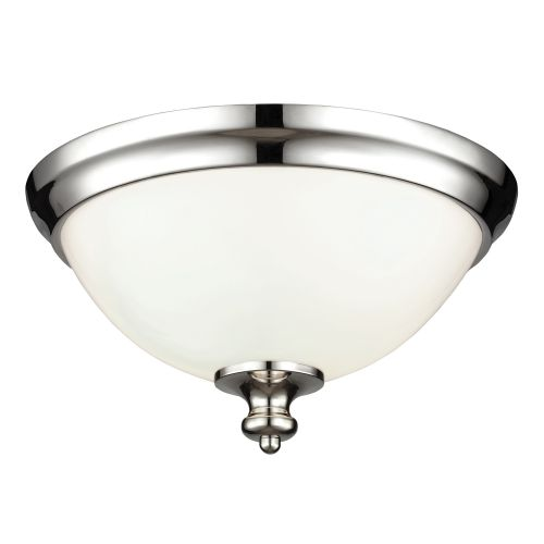 Feiss FE/PARKMAN/F PN Parkman 2Lt Polished Nickel Flush Ceiling Light