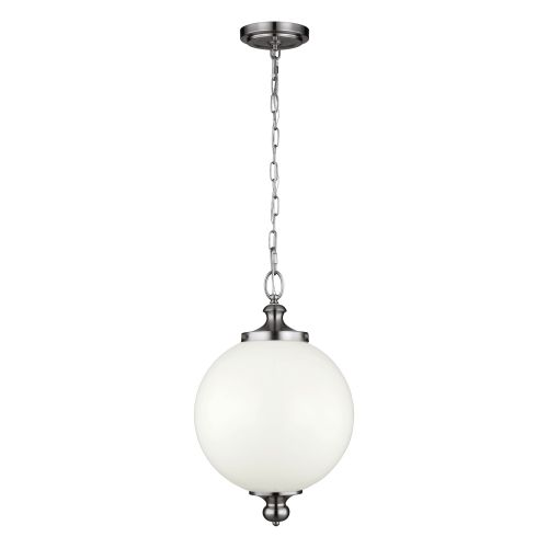 Feiss FE/PARKMAN/PL PN Parkman 1Lt Large Polished Nickel Spherical Pendant Light