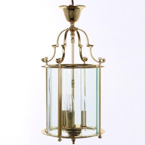 Impex LG/07000/09/PB Colchester 3Lt Polished Brass Indoor Lantern