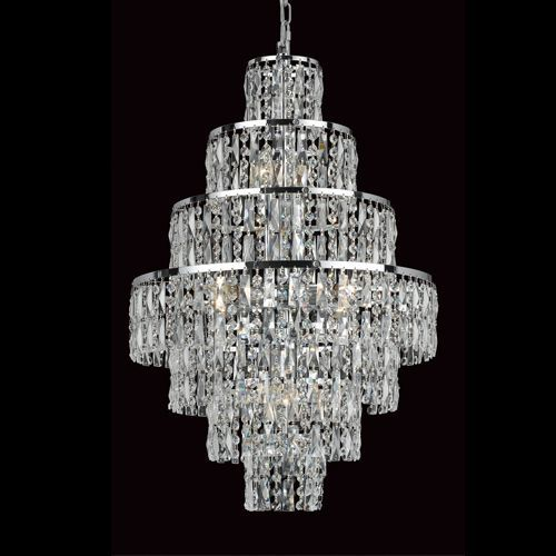 Impex CF03220/08/CH New York 8Lt Polished Chrome Ceiling Chandelier