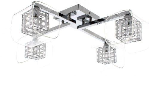 Impex Avignon PGH01515/04/PL/CH 4 Light Ceiling Flush Chrome Fitting