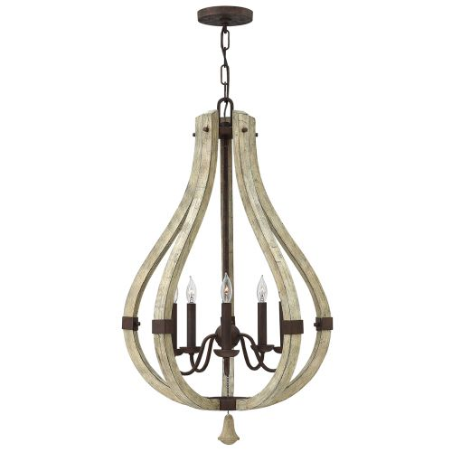 Hinkley HK/MIDDLEFIELD5 Middlefield 5Lt Iron Rust Ceiling Chandelier