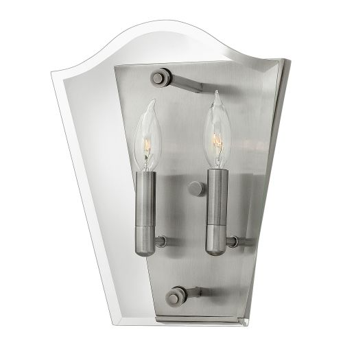 Hinkley HK/WINGATE2 Wingate 2Lt Polished Antique Nickel Wall Light