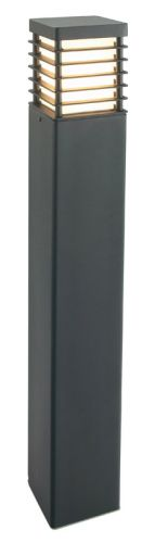 Norlys H/STAD L E27 BLK Halmstad 1Lt Black Outdoor Bollard