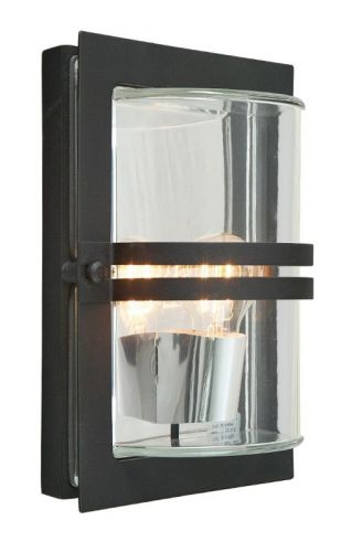Norlys BASEL E27 BLK C 1Lt Black Outdoor Wall Light