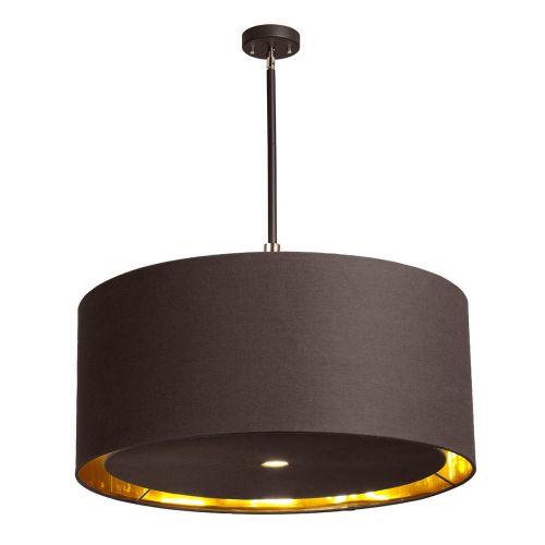 Elstead BALANCE/PXL BRPB Balance 4Lt Brown Polished Brass Ceiling Pendant