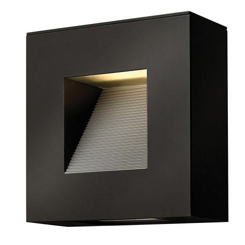 Hinkley HK/LUNA/S SK Luna 2Lt LED Satin Black Outdoor Wall Light