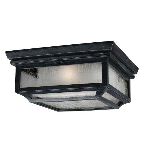 Feiss FE/SHEPHERD/F Shepherd 2Lt Dark Weathered Zinc Outdoor Flush Ceiling Light