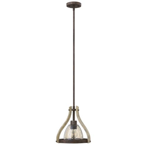 Hinkley HK/MIDDLEFIELDP1 Middlefield 1Lt Iron Rust Ceiling Mini Pendant