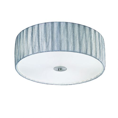 Silver Shade Flush Ceiling Fitting Apulia LEK61520