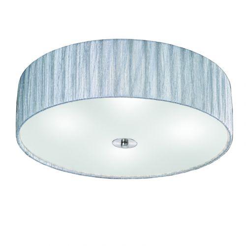 Silver Flush Ceiling Fitting 4 Light Shade Apulia LEK61521
