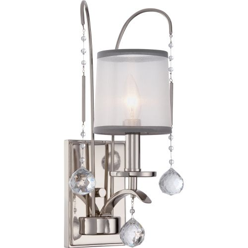 Quoizel QZ/WHITNEY1 Whitney 1Lt Imperial Silver Wall Light