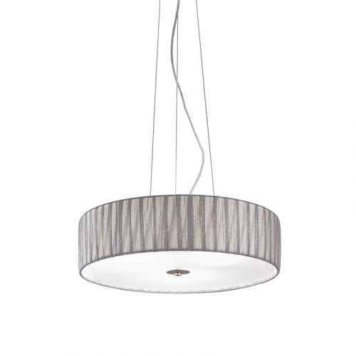 Silver Pendant 4 Light Fitting Shade Apulia LEK61522