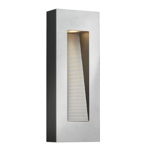 Hinkley HK/LUNA/M TT Luna 2Lt LED Titanium Outdoor Wall Light Solid Aluminium
