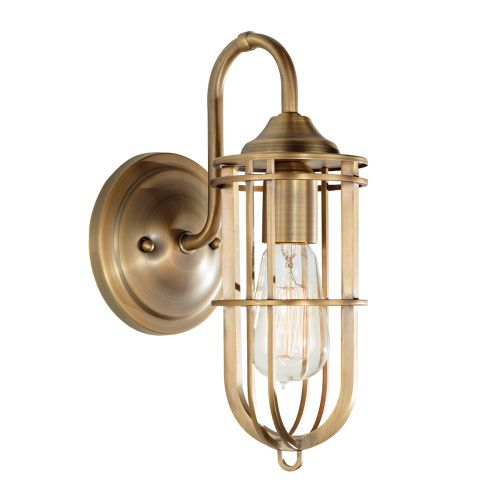 Feiss FE/URBANRWL/WB1 Urban Renewal 1Lt Dark Antique Brass Wall Light
