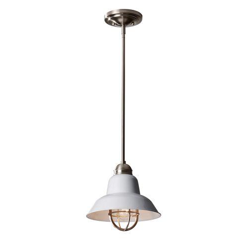 Feiss FE/URBANRWL/P/G Urban Renewal 1Lt Brushed Steel Ceiling Mini Pendant