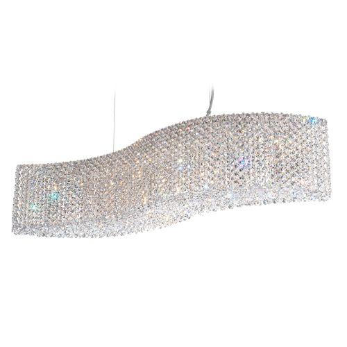Schonbek RE3214 Refrax 13Lt Swarovski Spectra Crystal Ceiling Pendant Polished Chrome