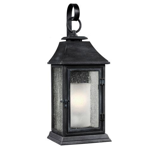 Feiss FE/SHEPHERD/2L Shepherd 1Lt Dark Weathered Zinc Large Wall Lantern