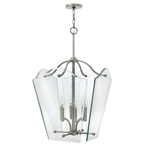 Hinkley HK/WINGATE/P/L Wingate 4Lt Polished Antique Nickel Large Ceiling Pendant