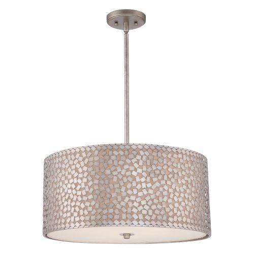 Quoizel QZ/CONFETTI/P/L Confetti 4Lt Old Silver Large Ceiling Pendant