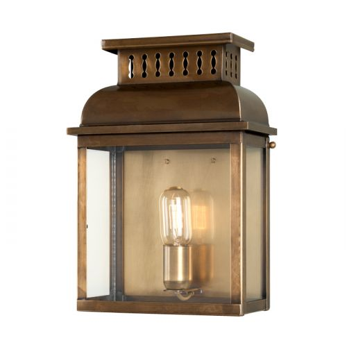 Elstead WESTMINSTER BR Westminster 1Lt Solid Brass Outdoor Wall Lantern