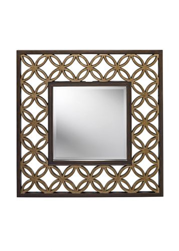 Feiss FE/REMY MIRROR Heritage Bronze Gold Wall Mirror