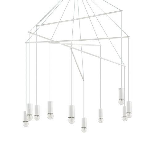 Ideal Lux 186801 Pop 10Lt White Ceiling Multi-Arm Pendant