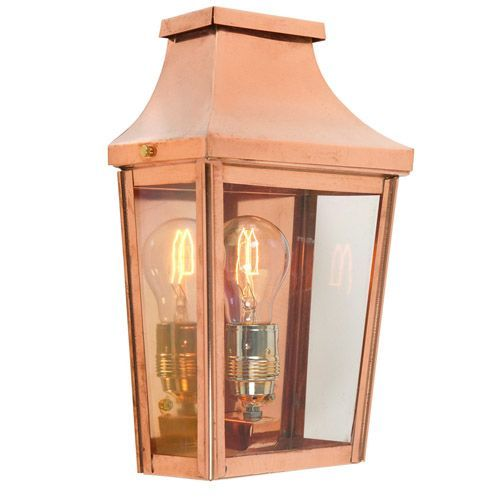 Norlys CS7/2 COPPER Chelsea 1Lt Outdoor Wall Light Half Lantern